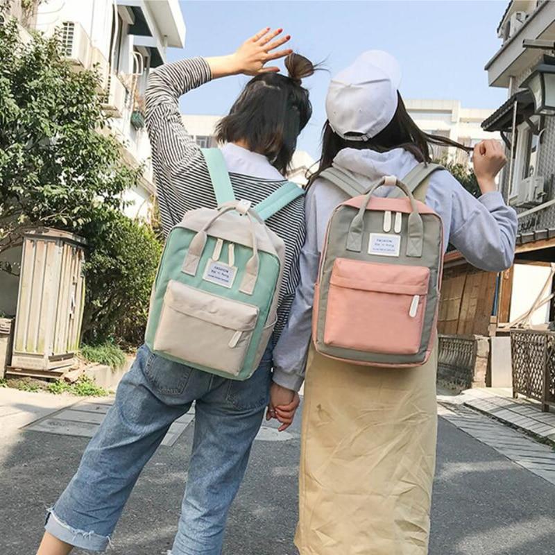 HTB1dmyzdjfguuRjSspaq6yXVXXa9 Yogodlns Campus Women Backpack School Bag for Teenagers College Canvas Female Bagpack 15inch Laptop Back Packs Bolsas Mochila