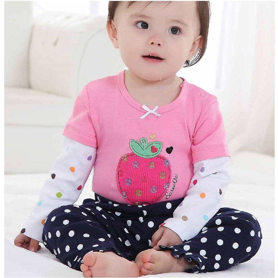 Eper bébi lányok ruhák öltönyök Teljes nadrág szett Kisgyermek - Bébi ruházat