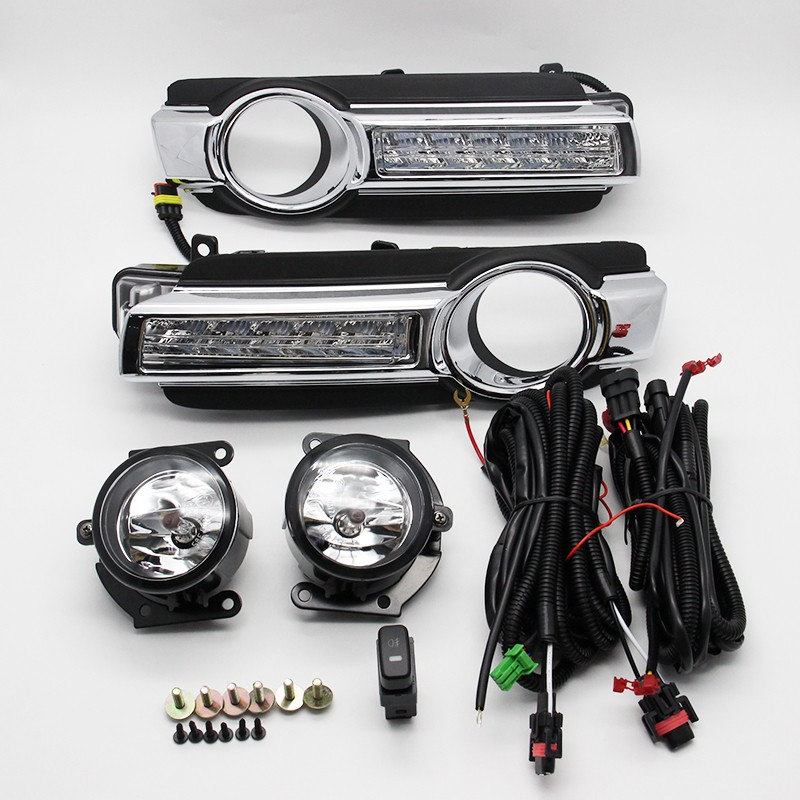 все цены на DRL Daytime Running Light Fog Lamp 1 set for Mitsubishi Pajero Montero Shogun 4 III New Model 2015 2016 онлайн