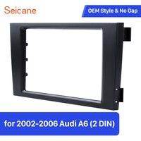 Seicane Refit Bezel Car Radio Fascia Panel Adaptor Double Din DVD Frame Dash Installation Kit For Audi A6 C5
