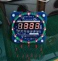 DIY горит 51 микроконтроллер ПРИВЕЛО электронный календарь часы DS1302 часы чип DS температуры 18b20 DIY electronice люкс