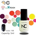 1Piece Free Shipping Gel Bright Black UV Soak Off Nail Gel Polish Long Lasting Led Gel Varnish DIY Nail Art  5ml Gel Polish