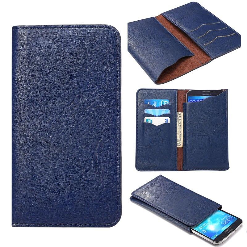 Pu leather wallet case para vernee apollo lite mtk6797 universal Bolsa de la Cub