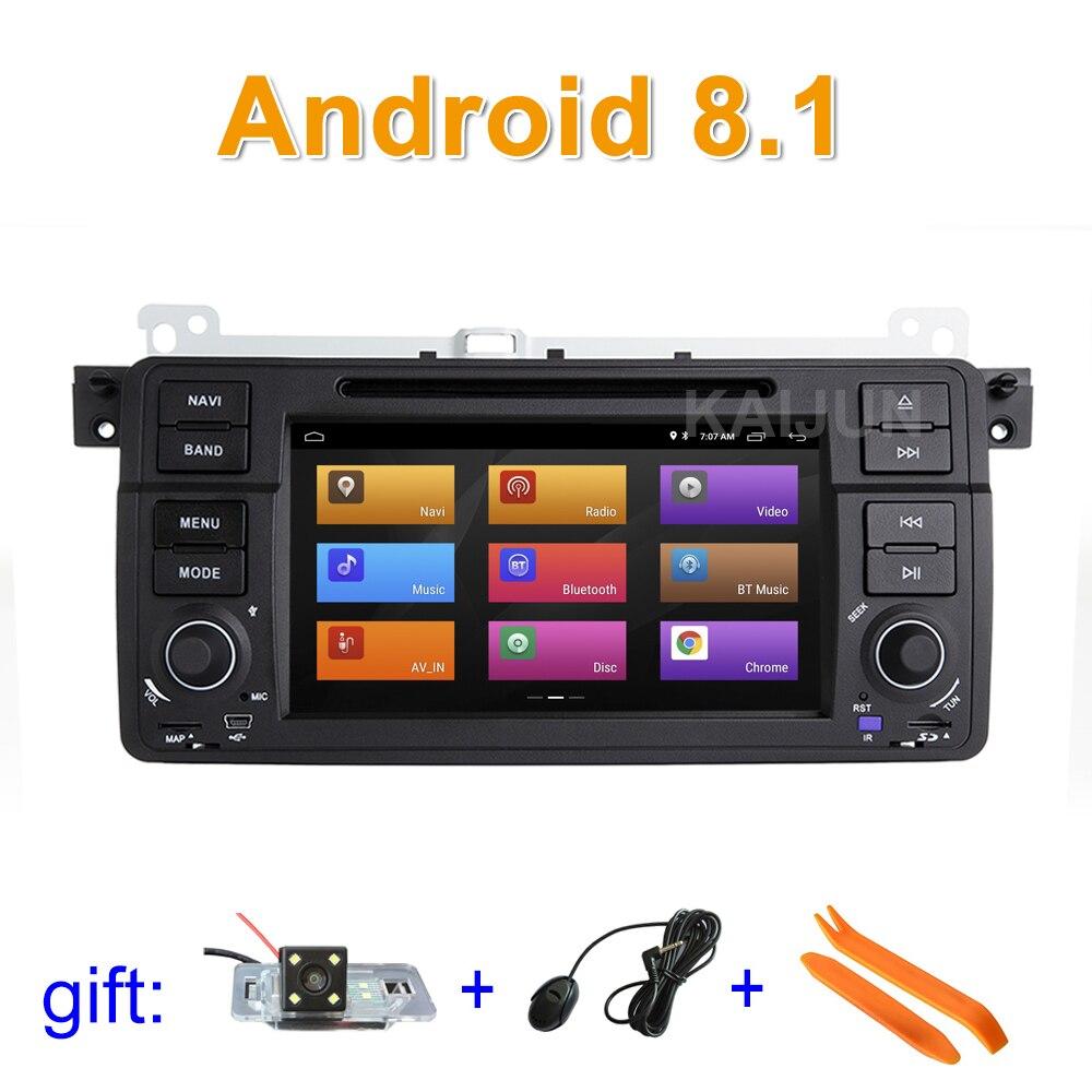 Pantalla IPS Android 8,1 reproductor de DVD del coche estéreo Radio GPS para BMW E46
