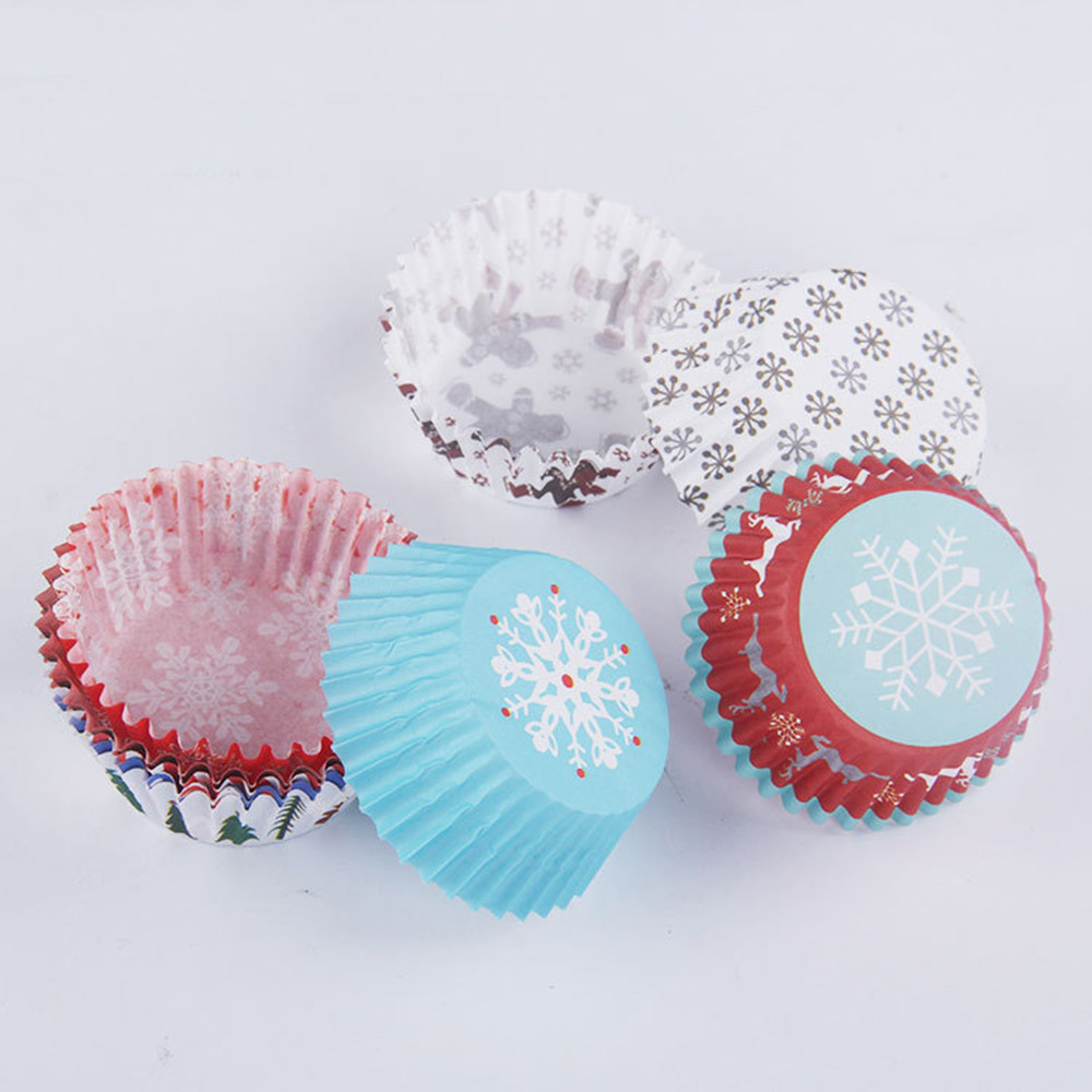 150pcsset Cut Christmas Birthday Cake Decorating Tools Paper Muffin Cupcake Baking kichen accessories kichen tool