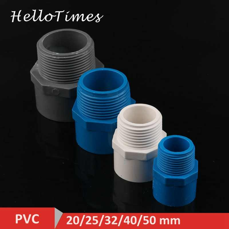 "2 Stuks Pvc 1/2 ""3/4"" 1 ""1.5"" Draad Connector 20/25/32/40/50mm Pvc Waterleiding Adapter Tuin Irrigatie Tube Fittings"