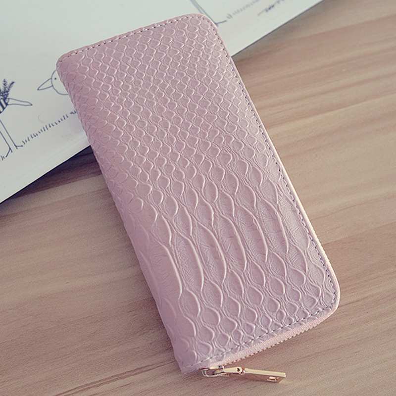 Alligator leather wallet fashion Female zipper long clutch pu purse women wallets card holder phone bag jialante python skin women wallet female long style real snake leather manual super thin simple multi card female clutch bag