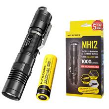 Buy USB Rechargeable Flashlight NITECORE MH10 7 Modes max.1000 lume beam distance 232 meter outdoor torch + 18650 2600mAh battery