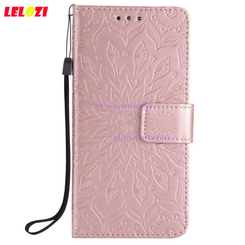 LELOZI TPU PU Leather Lather Lady Girls Flip Wallet Vintage Best Case Caso Bag For Sony Xperia Xperi Xpera XZ1 XZ1 Sun Flower