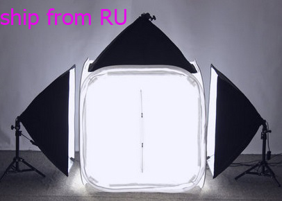 SHIP FROM RUSSIAN PHOTO TENT TABLE PHOTOGRAPHY SOFT BOX KIT 80x80cm PHOTO TENT SET KIT russian phrase book