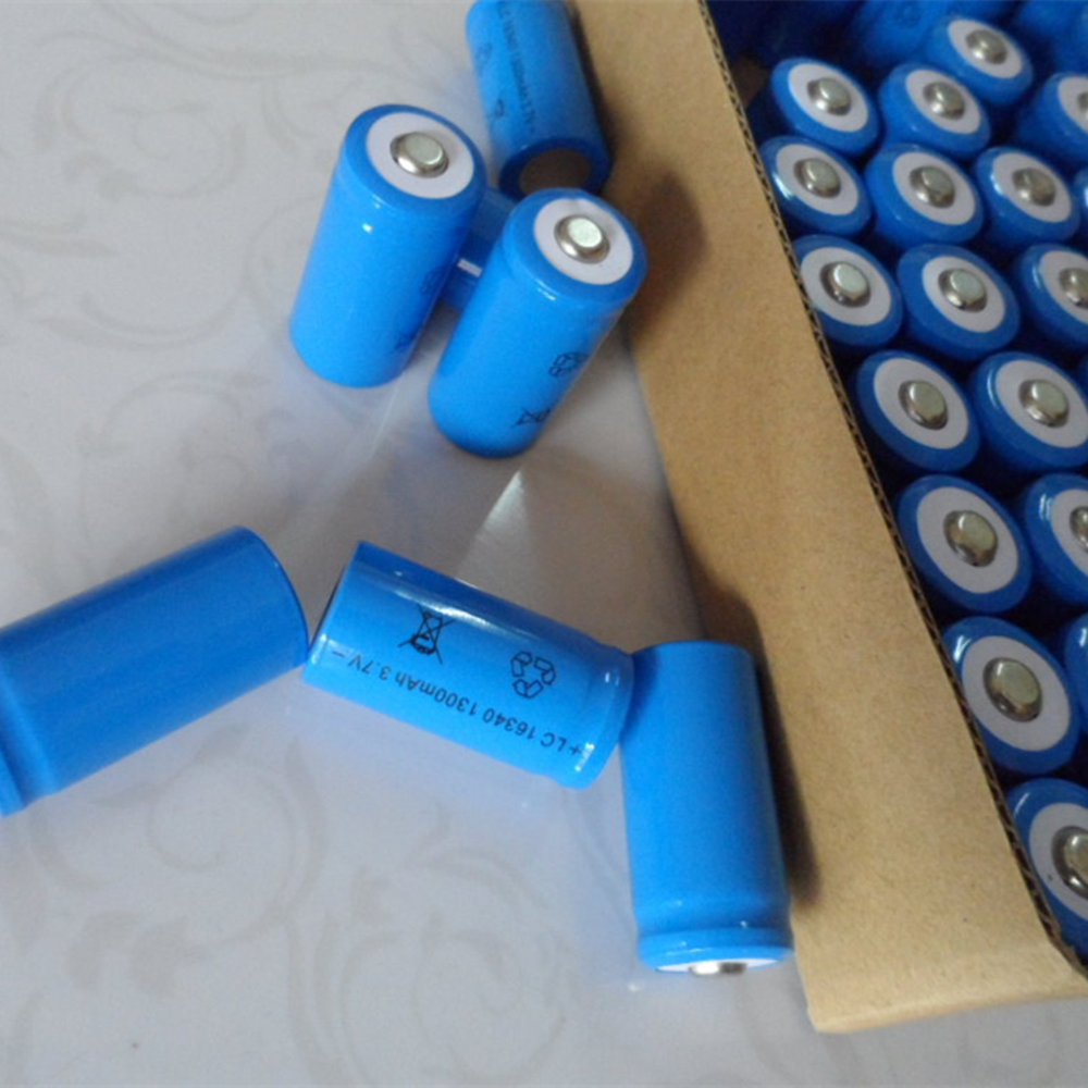 4 Pcs/set  Rechargeable CR123A 16340 1300mAh 3.7V Li-ion Battery  For Led Flashlight Batery Litio Battery Wholesale