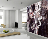 Custom Art Wallpaper Jazz Band And Dancers 3D Retro Wallpaper For Living Room Bedroom Kitchen Background