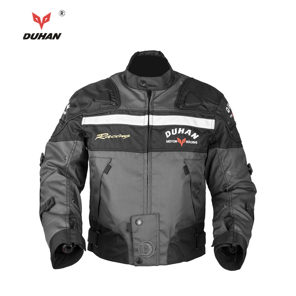 DUHAN Motocross Off-Road Racing Jacket Motorcycle Jackets Body Armor Protective Moto Jacket Motorbike Windproof Clothing
