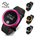 TTLIFE New Smart  Tracker Bluetooth 4.0 Wristband Smart Pedometer Bracelet For iPhone Samsung Smartband S6 PK ID107 Mi band