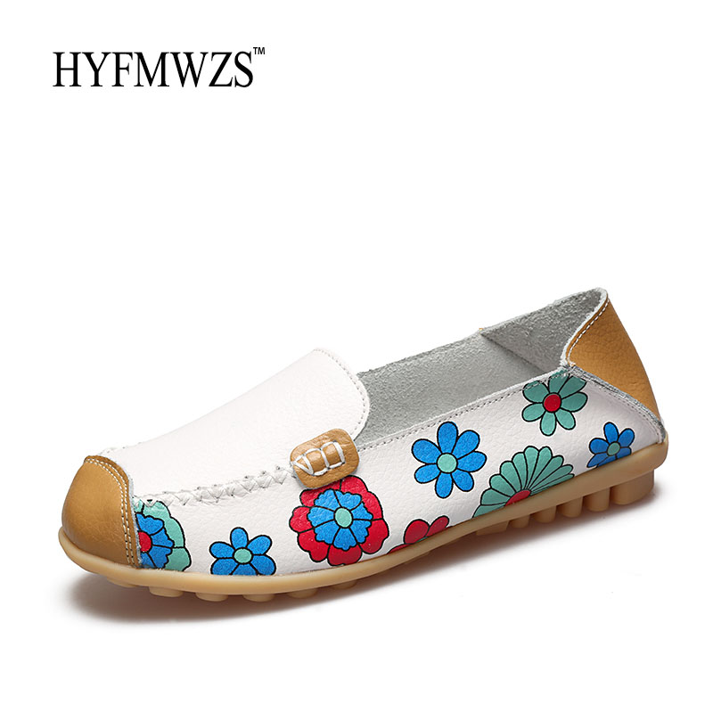 HYFMWZS Big Size 35-44 Women Loafers Fashion Designers 2017 Flat Shoes Women Peas Shoes Soft Breathable Oxford Leather Shoes fashion horse hair tassels ornament flat shoes loafers shoes black pair size 35