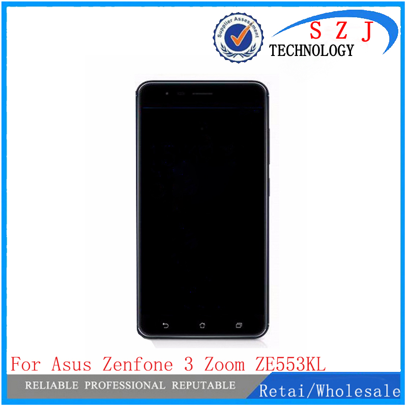 New 5.5'' inch For Asus Zenfone 3 Zoom ZE553KL Full LCD DIsplay + Touch Screen Digitizer Assembly Replacement Free Shipping tested repair part 5 inch for asus zenfone 5 lcd a500cg a501cg full display screen with touch digitizer 1 pcs free shipping