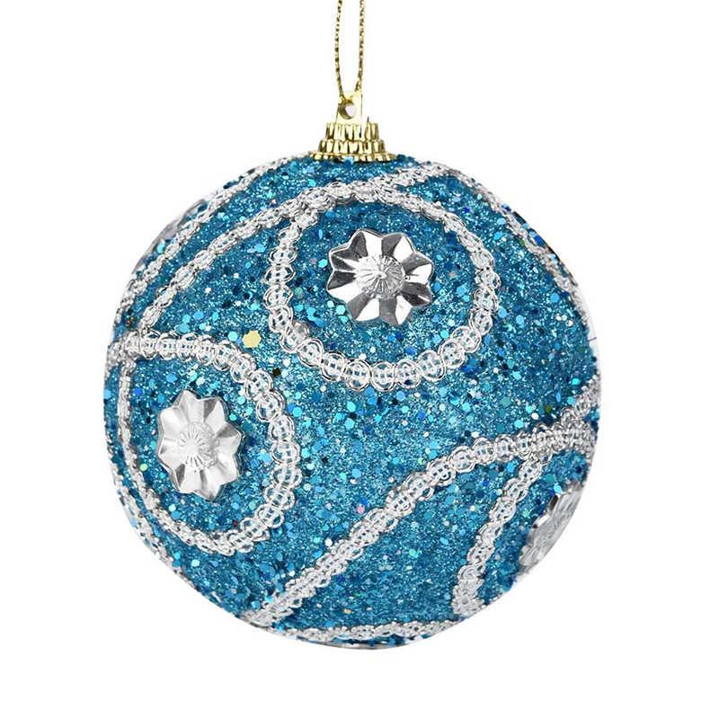 1Pc Christmas Santa Rhinestone Glitter Baubles Ball 8cm Xmas Tree Ornament Decor Gift New Years Home Decor #2o29 (7)