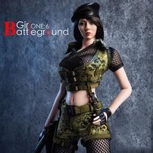 цена на 1/6 Scale 18XG13A/B Female Girl Clothes Set Battlefield Girl Clothing & Accessories Set Model for 12 Action Figure Model