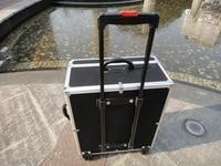 Professionelle 120 bass akkordeon spieluhr mit trolley aluminium alloy rod ABS box 96/80/60 bass akkordeon tasche gig hard case