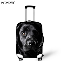 INSTANTARTS Travel Accessories Luggage Protective Covers For 18 30 Inch Suitcase Cute Dachshund Print Thickened Dust