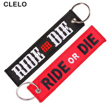 CLELO Luggage Tag Embroidery Ride or Die bag tags With Key ring Key chain fashion suitcase tag Travel Accessories 2pcs/lot(China)
