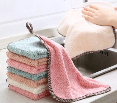1pcs Kitchen Rag Microfiber Cleaning Cloth Hangable Dish Towel Dish Cloth tableware Household Cleaning Towel (7)