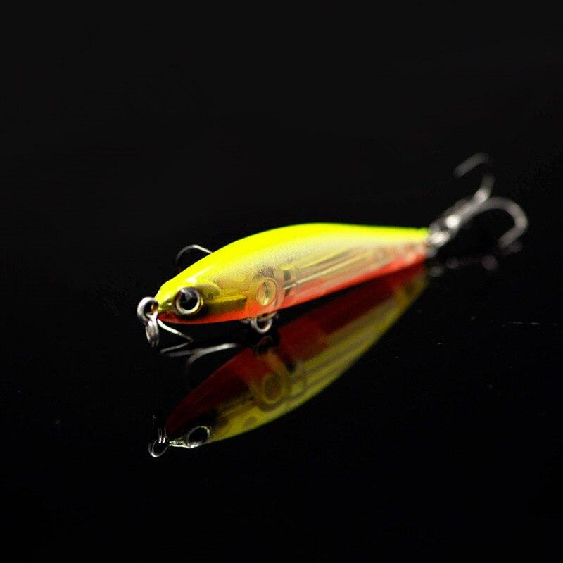 Fishing Lure Wave Slow Shaking 4.8cm/4g Sinking Pencil Vibration Magnetic Long Cast Laser Atriicial Bait Owner Hook owner pin hook черный хром 04