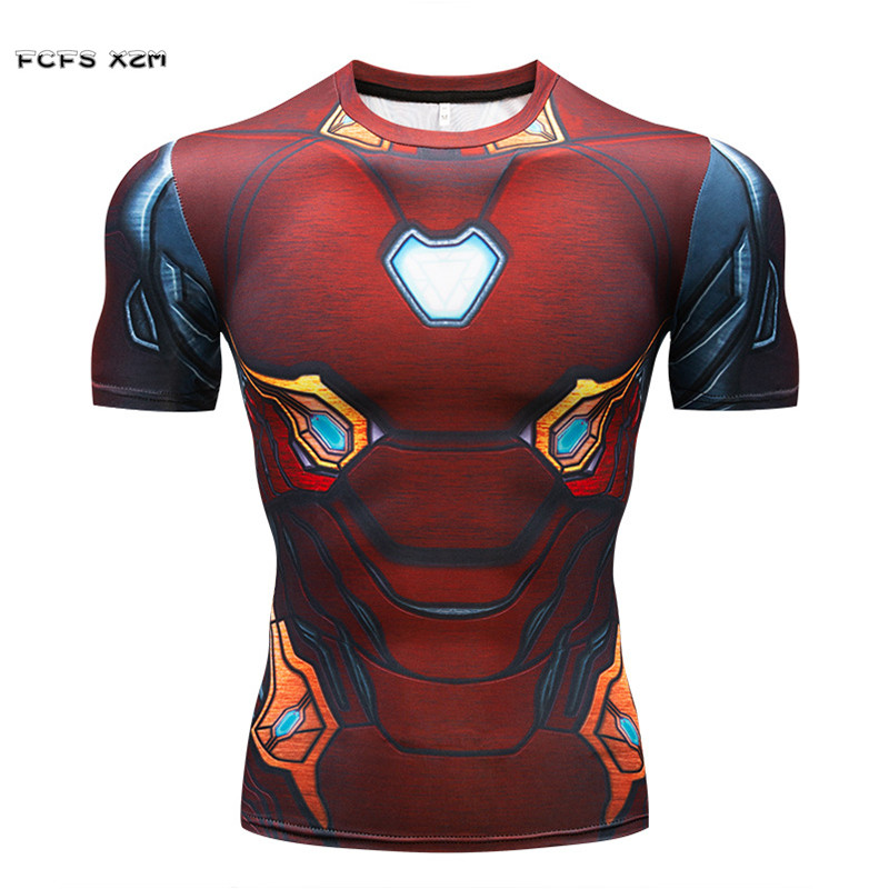 Men 3D Sports T-Shirt Avengers 3 Infinity War Spiderman iron Man Captain America Thor T-Shirts Cosplays Halloween Movie Costumes
