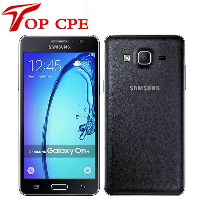 Abierto original samsung galaxy on5 g5500 teléfono móvil quad core 5.0 ''8mp 4g lte teléfono android 1280x720 dual sim teléfono inteligente