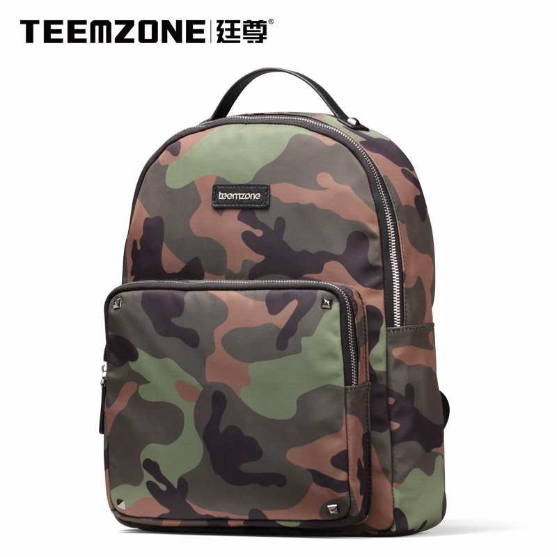Brand Teemzone Men And Women Canvas Waterproof Backpack Casual Travel Beach Bag Laptop Backpack Teenagers School Bags Free Ship