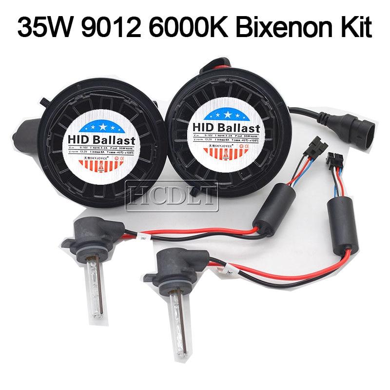 HCDLT Car Headlight Xenon 9012 HIR2 HID Kit 35W 9012 6000K HiLo Bixenon No Error Canbus Car Light Bulb Kit For IX35 2014-2016 (2)