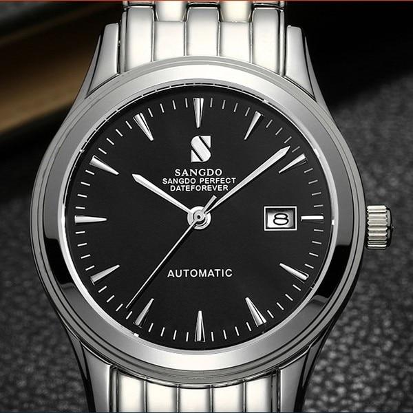 ФОТО 38MM SANGDO men's watch Sapphire mirror Automatic Self-Wind movement  High quality Luxury Mechanical watches 323