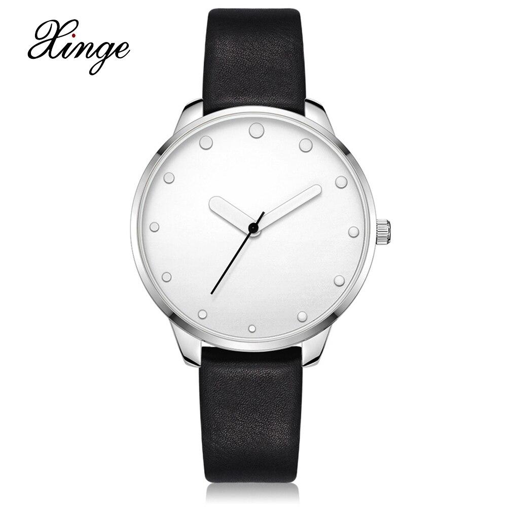 Xinge Luxury Brand Women Watches Ultra Thin Leather Strap Clock Female Quartz Sport Watch Womens Waterproof Casual Wristwatch цены