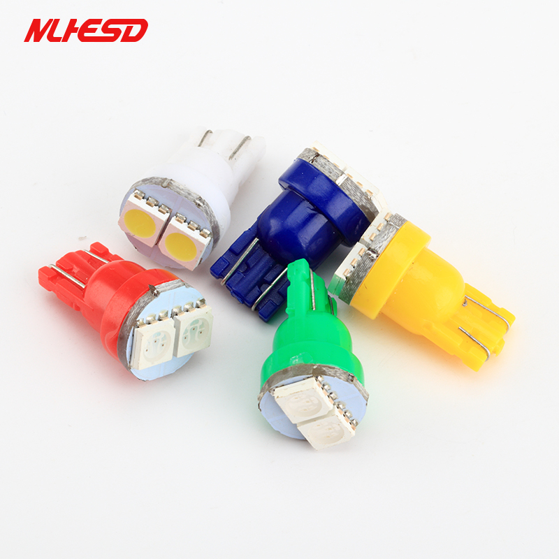 <font><b>100pcs</b></font> New Car LED <font><b>T10</b></font> 194 W5W <font><b>Canbus</b></font> <font><b>t10</b></font> 2SMD 3014 led <font><b>t10</b></font> w5w Silicone shell <font><b>t10</b></font> 2LED auto Side Wedge Lamp Parking Bulb image