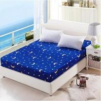 1pc 100% flannel coral fleece Fitted Sheet Mattress Cover Printing Bedding Linens Bed Sheets With Elastic Band Double Queen Size