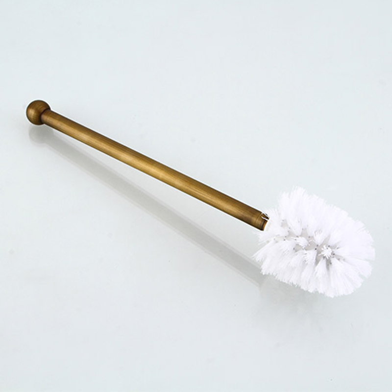 Купить с кэшбэком MADICA 9*19.5cm Toilet Brush Holders For Shower Room Vintage Brass Disposable Type WC Toilet Brush Metal Nail Closet Bowl Brush