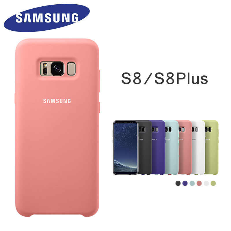 Asli Samsung Galaxy S8 S8 Plus Cover Silicone Case 360 Perlindungan Shockproof G950 G955 Telepon Kembali Casing