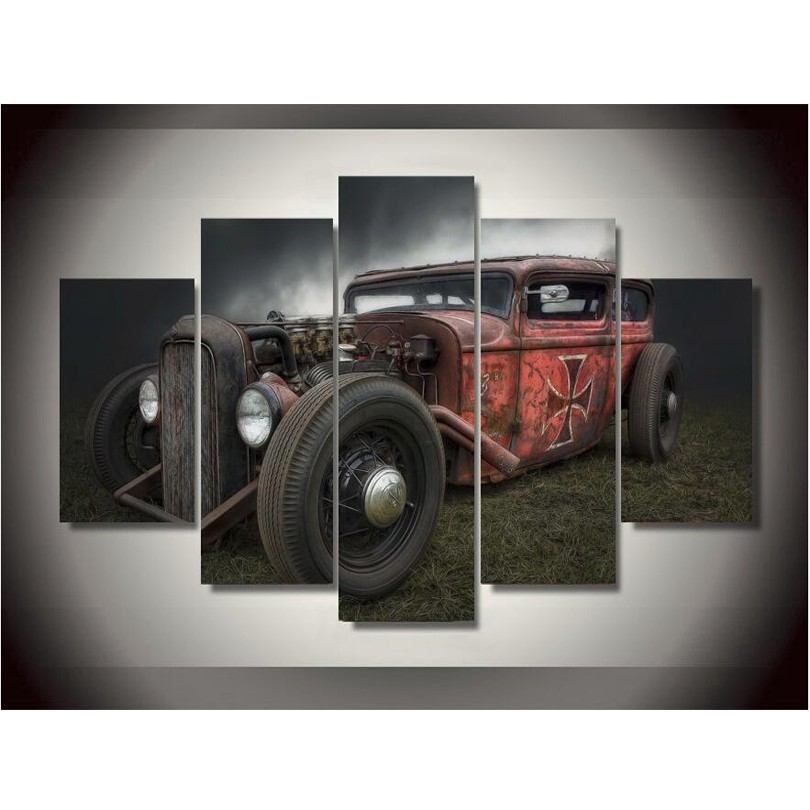 canvas printings vintage cars painting wall art home decoration canvas framed free shippingchina