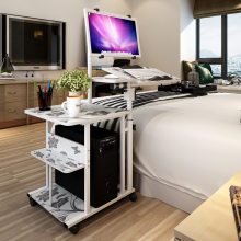 desktop Computer Table Adjustable &Portable Laptop Desk Rotate Laptop Bed Table Can be Lifted Standing Desk With Keyboard(China)