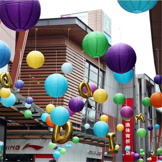 50 pcs 4 inch 10cm colorful paper lantern chinese lantern lamps