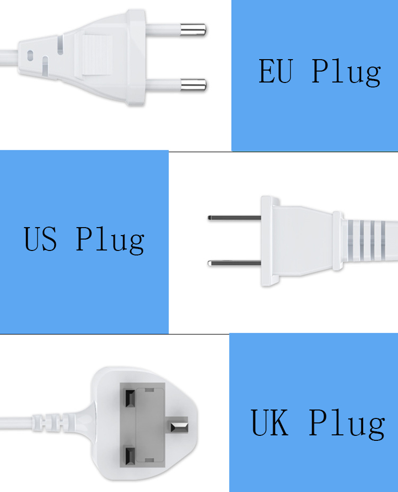 Thbelieve 3 USB Multi Charger 5V 2.4A USB Type C Desktop Chargers Mobile Phone USBC Charging LED Digital Chargers For Tablet (2)