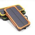 12000 мАч Солнечной Энергии Банк Портативный СВЕТОДИОДНЫЙ Водонепроницаемый Dual USB Внешняя Батарея Солнечное Зарядное Устройство Powerbank для Мобильного Телефона