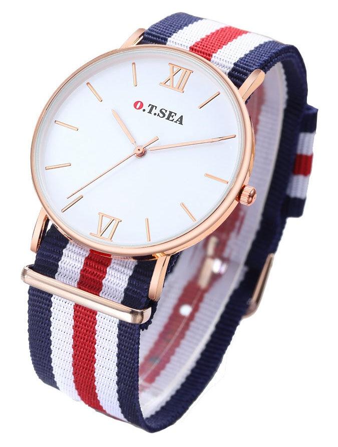 Top Luxury Brand Nylon Fashion Bracelet Quartz Watch Women Men Ladies Wrist Watch Wristwatches Clock Relojes Mujer relogio 8O28 survival nylon bracelet brown
