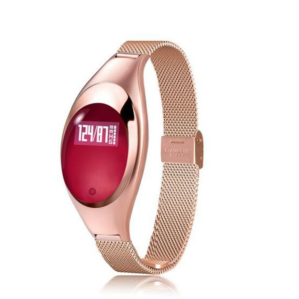 Women Smart Watch Bracelet Z18 Blood Pressure Measure Heart Rate Monitor Pedometer Waterproof Bluetooth Wristband Android IOS cute love heart hollow out bracelet watch for women