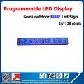 Полу-открытый светодиодный дисплей синий p10 светодиодный дисплей знак 24*136 см светодиодная вывеска простота в эксплуатации программного обеспечения синий рекламы светодиодная вывеска