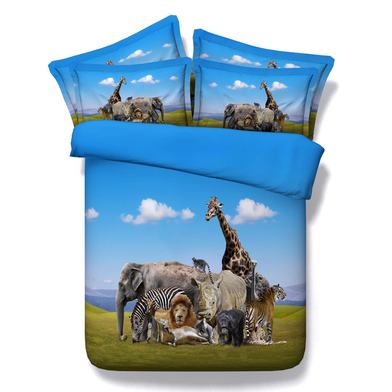 3D BEDDING set Horse Elephant bedding for adults animal ...