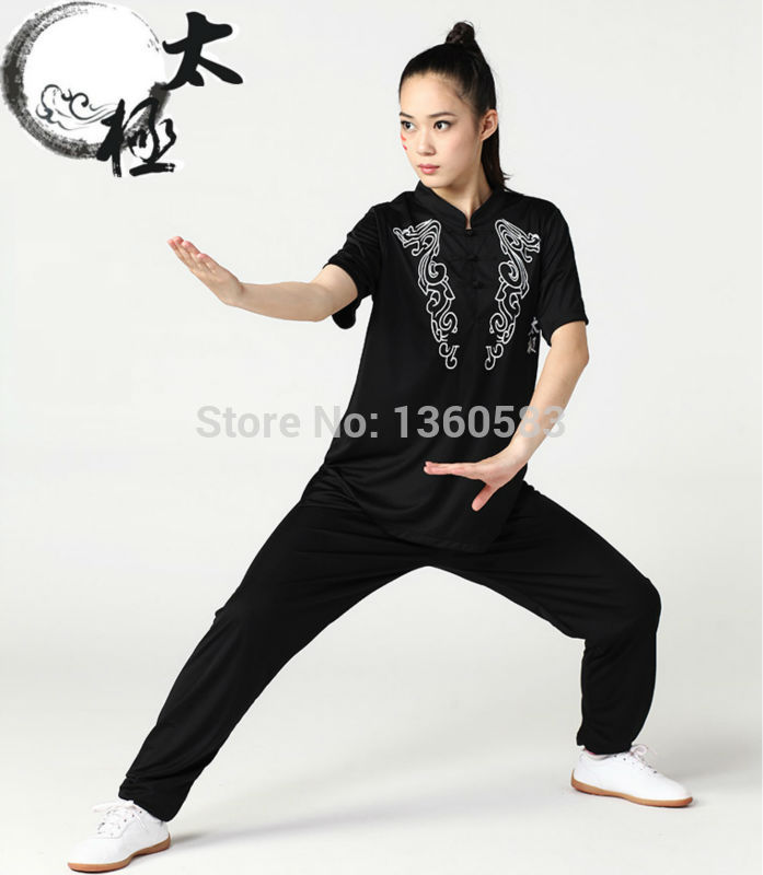 New Short sleeve Tai chi clothing Kung fu shirt  summer martial arts uniforms Taijiquan clothes fro men women xxs-xxxl tai chi clothing cotton clothes and costumes multicolor optional morning suit of taijiquan for men and women section