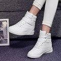 Moda Plataforma Mulheres Casual Shoes Ladies Verão Flats High Top Altura Aumento Botas Sapatos Para Mulheres