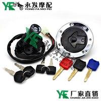 1 set motorcycle locks Motorcycle Fuel Gas Tank Cap Cover Lock Key Electric Bicycle Lock for kawasaki ZZR ZRX400 ZXR250 400