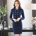 Personal de recepción Hotel guardapolvos de otoño y de invierno femenina vestidos manga larga azafatas uniformes esteticista personal
